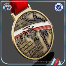 Médailles de lutte contre l'émail personnalisées