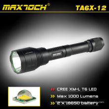 Maxtoch TA6X-12 1000 Lumen Cree 18650 mango linterna LED Super distancia eléctrica carga linterna