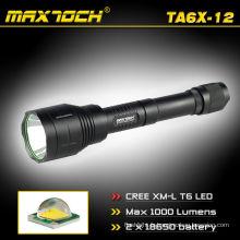 Maxtoch TA6X-12 1000 Lumen crie 18650 poignée lampe de poche LED Super Distance électrique charge lampe de poche