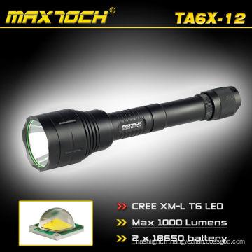 Maxtoch TA6X-12 Cris T6 18650 1000LM Camping LED lampe de poche