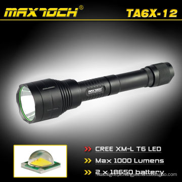 Maxtoch TA6X-12 CREE T6 1000LM 18650 acampar lanterna LED