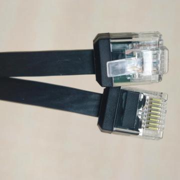 Câble CAT6 Ethernet FLAT avec RJ45 à corps court