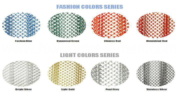 wire mesh drapery colour