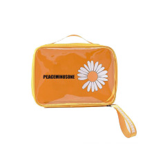 Manufacturers New PVC Small Daisy Cosmetic Bag Portable Travel Clear Wash Storage Bag Quilted Cosmetic Bag With Handle