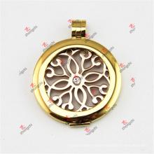 35 mm de acero inoxidable de oro monedas Lockets colgante para el collar (SSL50925)