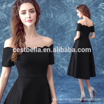 2016 hochwertiges Großhandelskurzes schwarzes Frauenart und weiseabendkleid süßes elegantes Partei-Abschlussball-Kleid-Schwarzes