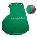 Venta caliente Personalizado 3'x9 'Pie de golf de goma estera de Golf Indoor Mini Golf Putting Mat