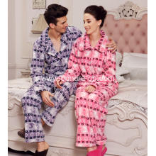 Fashion Printed Velvet Fleece Pajamas Suit