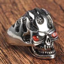 Cool men Charm skelet schedel ring