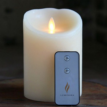 moving flame luminara candles with remote control