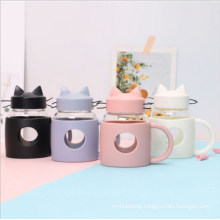 Creative Cat Glass Portable Gift Water Male and Female Student Cute Fashion Advertising Cup Double Wall Glass Coffee Cup