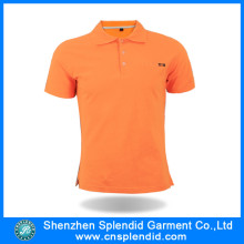 High Quality Custom Orange 100%Cotton Blank Mens Polo Tshirts
