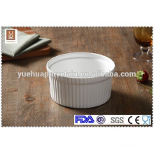 "6.5"" white ceramic fruit salad bowl"