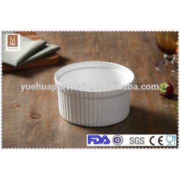 "6.5"" white ceramic fruit salad bowl"