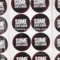 Impresión de círculo personalizado Pizza Box Stickers Adhesive Packaging Labels