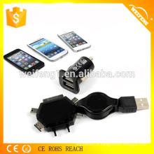 Chargeur mobile pour voiture / Mini chargeur de voiture / chargeur de voiture avec fonction multiple