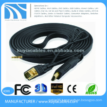 Kuyia Gold plated HDMI to VGA cables with power and audio support 1080P for DHTV XBOX PS3