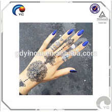 Henna temporary tattoo sticker henna bohemian style human body art tattoo with competitive price