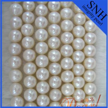 Perlas de agua dulce cerca de 9-10mm