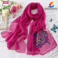2015 fashion handmade 100%polyester embroidery magic pashmina shoulder scarf wrap custom design hot muslin hijab sexy women scar