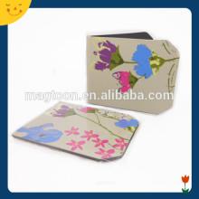 Flor impresso papel magnético marcador handmade