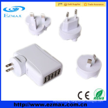 5V 2A 1A Optional OEM US/EU 5 port travel USB charger