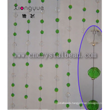 Green Oval Waterproof Decorative Window Crystal Beads Curtain