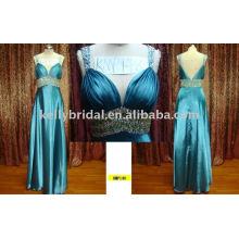 Robe de soirée en cristal mûre OEM Service Type d'offre et 100% Polyester Tulle Matériau robe de soirée émeraude sexy