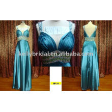 crystal mature ladies party dress OEM Service Supply Type and 100% Polyester Tulle Material sexy emerald green evening dress