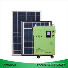 Sistema portátil del panel solar del hogar 600W de la caja de acero negra y azul