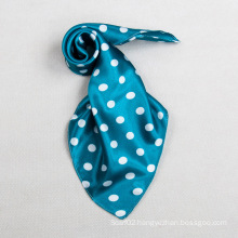 Polyester Color Blue DOT Small Square Scarf