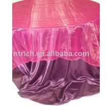 Linge de table tissu satin, tissu de table d'hôtel/restaurant, tableau superposition