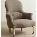 Linho parece tecido de linho de poliéster com apoio Knittted para cadeiras