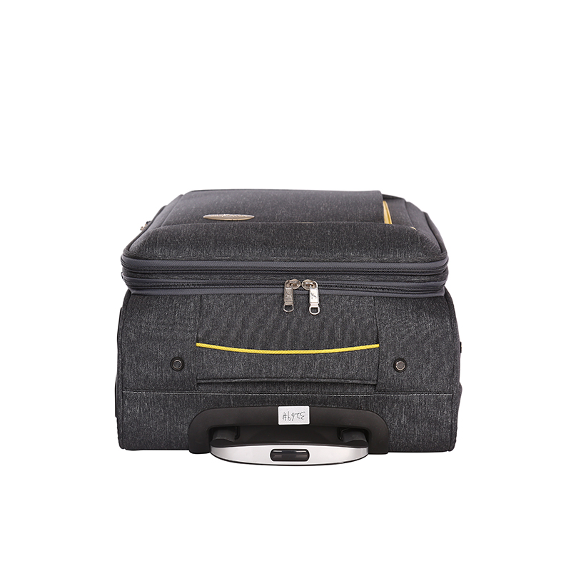 business soft polyester expandable trolley luggage 4