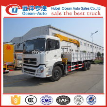 Dongfeng kinland 6x4 heavy duty 10 ton hydraulic truck with crane for sale