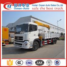 Dongfeng kinland 6x4 heavy duty 10 ton гидравлический погрузчик с краном на продажу