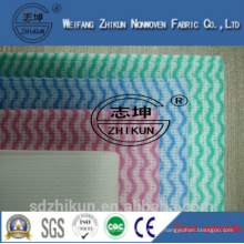 Manufacturer supplier viscose and polyester material spunlace nonwoven industrial wipe cleaning cloth