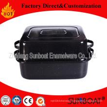 Cast Iron Enamel Baking Tray/Rectangular Baking Roaster/Cookware