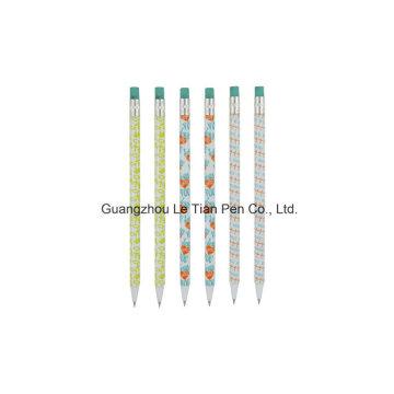 Caneta esferográfica de padrão de impressão Full Logo caneta abastecimento Lt-L446