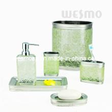 Transparente Green Acessórios de banho Polyresin (WBP0818A)
