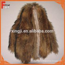 Высокое качество меха полосы китайский мех енота