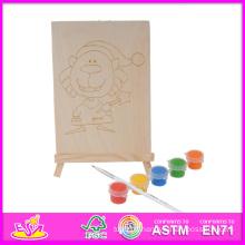 2014 nouveau jeu enfants en bois jouet pour la peinture, populaire bricolage enfants jouet pour la peinture ensemble, éducatif bébé jouet pour la peinture W03A046