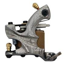 Damascus Steel Tattoo Machine Shader and Liner