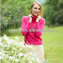 13STC5533 senhoras pulôver de gola de cashmere blusas china