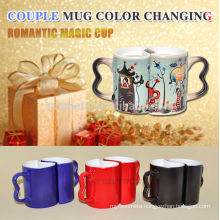 Sublimation Couple Mug, ceramic couple mug,magic color changing mug