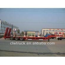 3 axles construction machine transport truck trailer