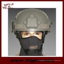 Quente capacete Mich venda 2002 com Nvg Mount & lado trilho capacete de segurança