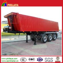 Remorque semi hydraulique hydraulique de camion de décharge de cargaison de corps de boîte