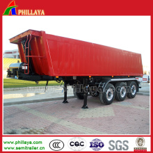 Box Body Cargo Tipping Dump Truck Semi Hydraulic Trailer