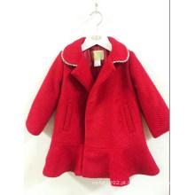 Camisola de lã do revestimento das crianças da menina do outono